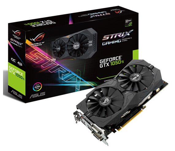 Asus ROG STRIX-GTX1050TI-4G-GAMING Game Graphics GTX1050Ti 4G image