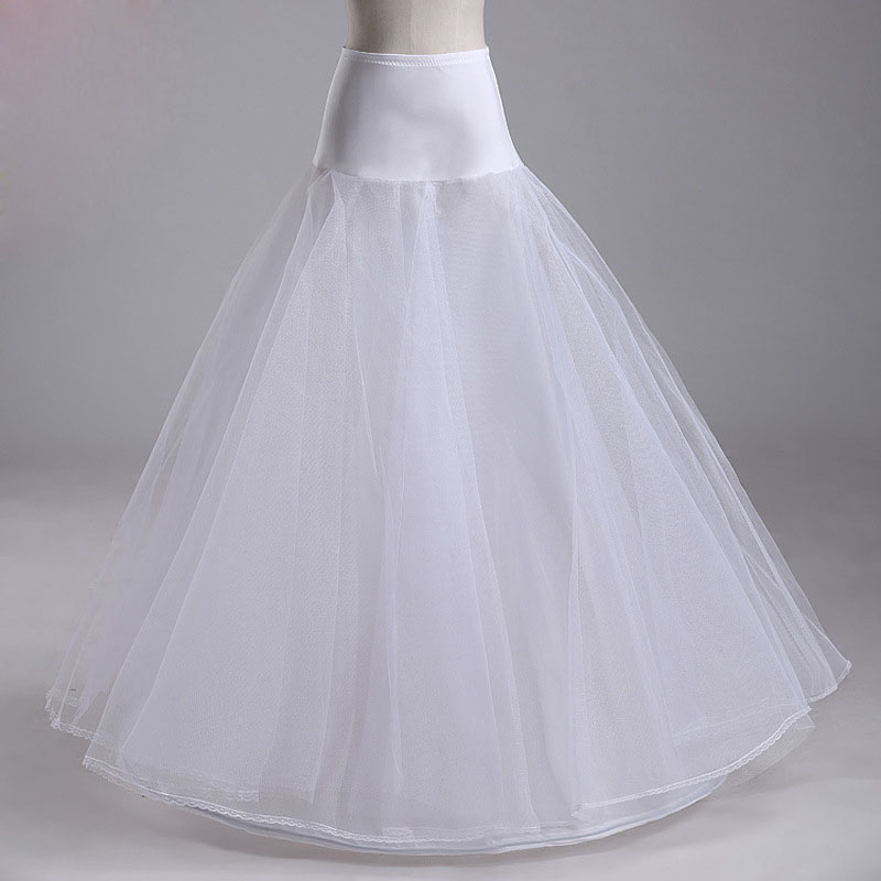wedding dresses crinoline petticoat  lycra waist  jupon tulle mariage white wedding underskirt bustle crinoline WAS10040