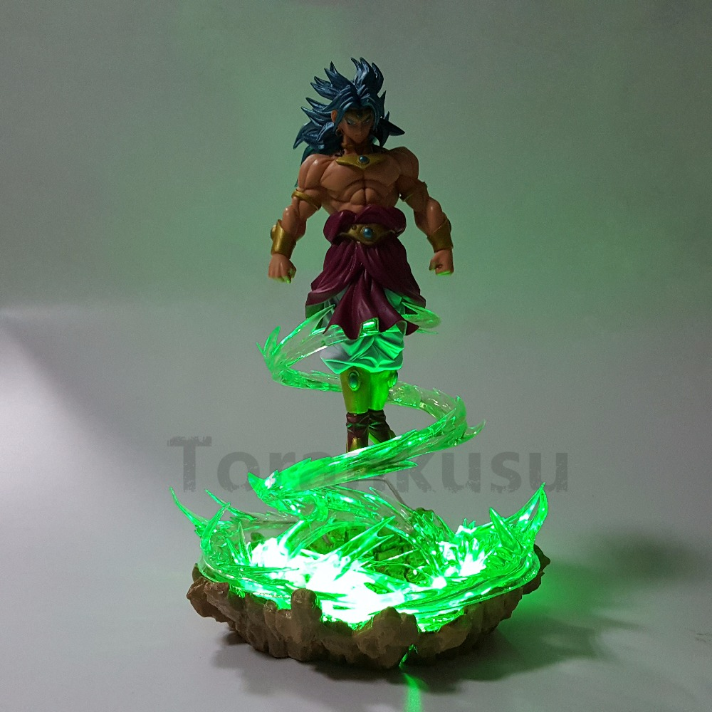 Dragon Ball Z Scultures Broly PVC Action Figure Collectible Model Toy Anime Dragon Ball Super DBZ Broly With effect Flying neca planet of the apes gorilla soldier pvc action figure collectible toy 8 20cm