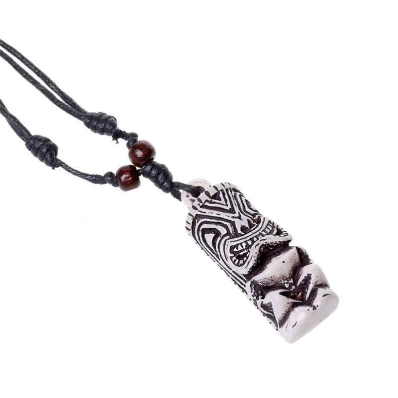 2018 modne Unisex regulowany czarny przewód naszyjnik w stylu Vintage żywica wisiorek – biżuteria na impreza