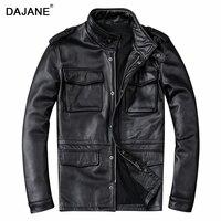 Альфа охоты M65 натуральная кожа мужские длинные из воловьей кожи Способствует мотоциклетные натуральная кожа Куртки пальто