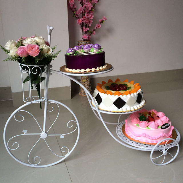 3 Tier Bicycle Shape Cupcake Stand Tray Rack Display Holder Desserts ...