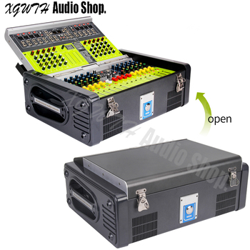 1500W+1500W Amplifier Digital Mixer 12 Channel High Power USB SD 16 DSP Effect Sound Studio Audio Mixing Console Equipment