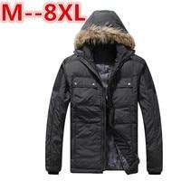 Plus Size 10XL 8XL 6XL 5XL Male Coat Hooded 2017 Men S Warm Korean Style Padded