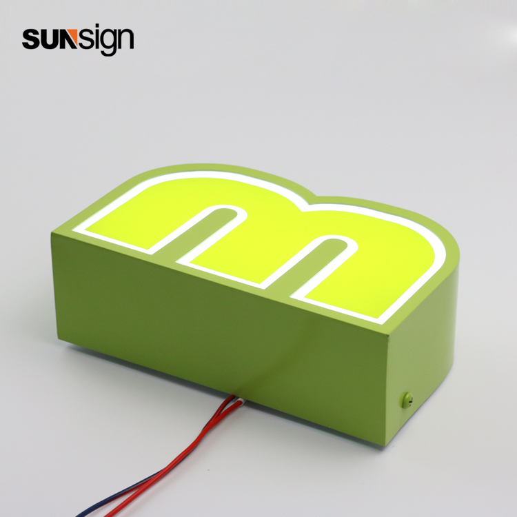 Stainless Steel acrylic sign led backlit channel illuminated 3D letterStainless Steel acrylic sign led backlit channel illuminated 3D letter