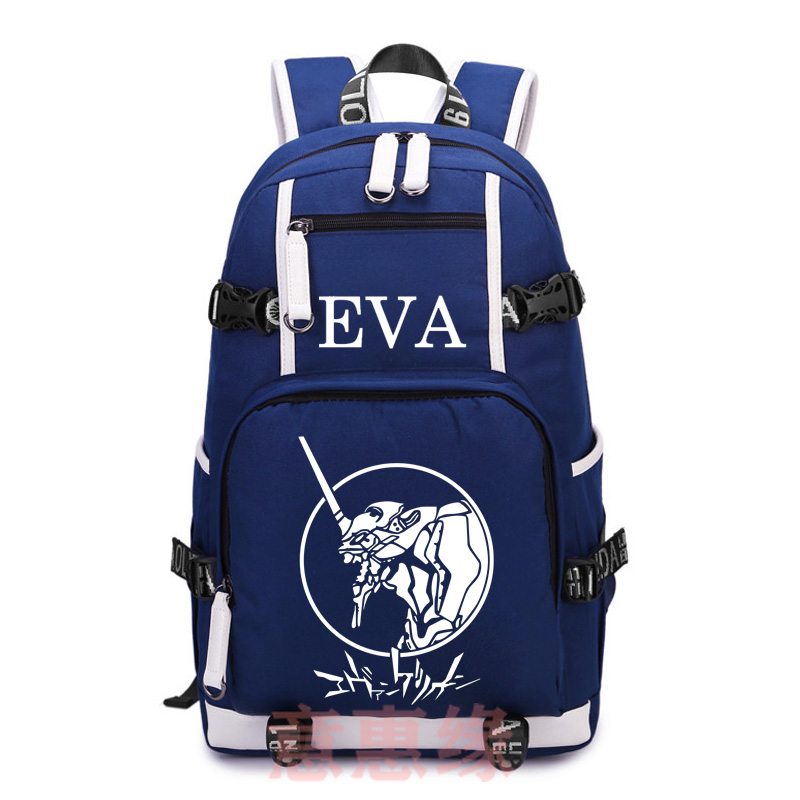 цена Hot Anime Neon Genesis Evangelion Backpack Cosplay EVA Canvas Bag Schoolbag Travel Bags