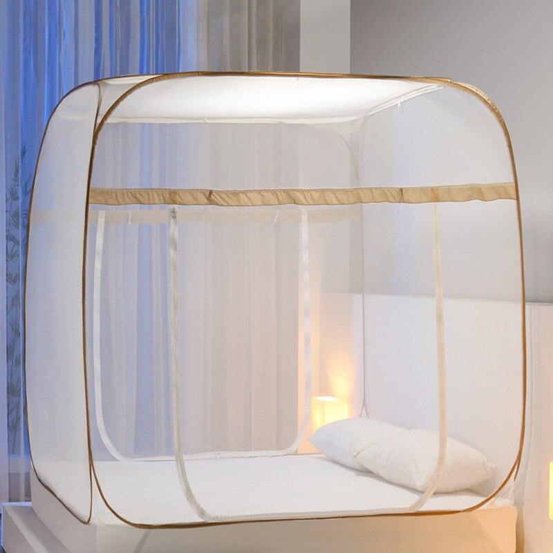 Simple de yurta mongol mosquitera Multi color cama malla portátil doblado de la tienda de Camping verano cama Mosquito cortina-in Red mosquitera from Hogar y Mascotas    1