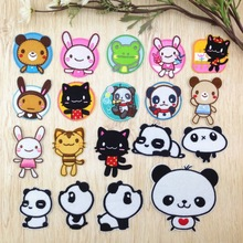 Various Cartoon cute animal bear rabbit cat Patch Embroidered Applique Sewing Clothes Stickers Garment Apparel Accessories