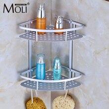 Space Aluminum font b Bathroom b font Shelf Shower Shampoo Soap Cosmetic Shelves font b Bathroom