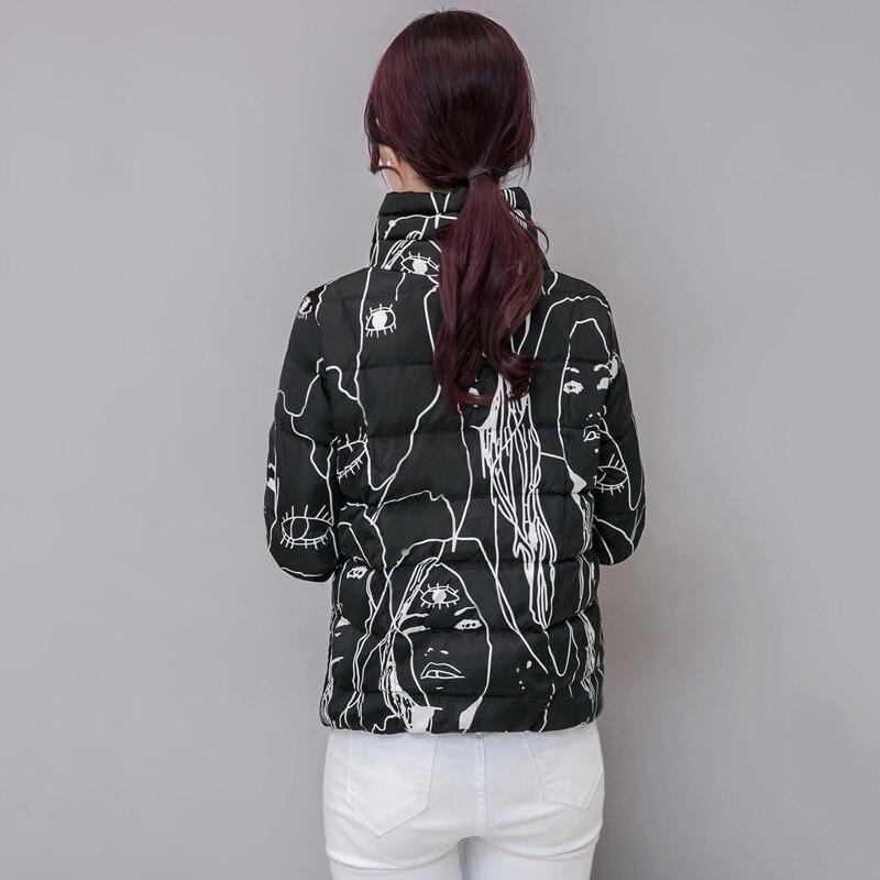 Poche Printemps Mode Mince Feminina Base Stand Outwear Belle Femmes Jaqueta Dessinée De Automne Black white Zippée gray Bande Bomber Graffiti Col Veste 6ng6qr