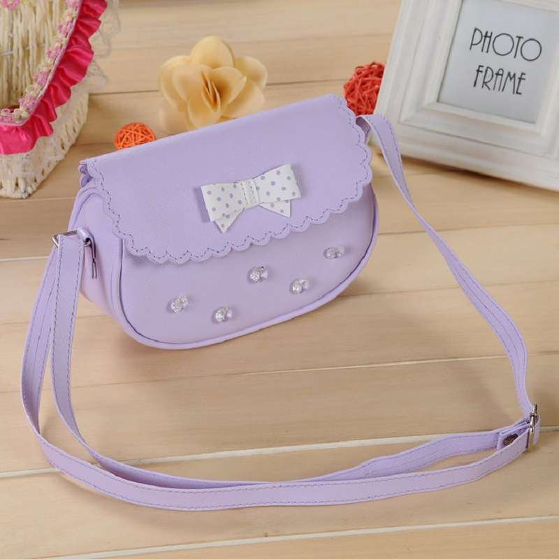 PU leather princess candy color coin purse wallet kids mini messenger bag small pouch bolsa feminina for kindergarten baby girls