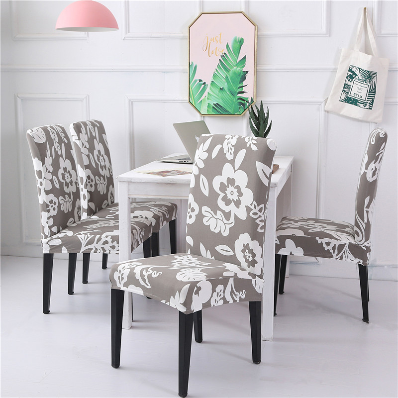 Universal Dining Room Chair Cover Spandex with Backrest Stretch Seat Covers Elastic Kitchen Restaurant  Cubierta de silla