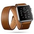 FOHUAS Extra largo correa de cuero genuino doble Tour pulsera correa de cuero correa de reloj para Apple Watch Series 2 38mm amd 42mm Mujer