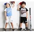BK-427, 5sets/lot, baseball, summer children boys girls clothing sets,  t shirts + shorts
