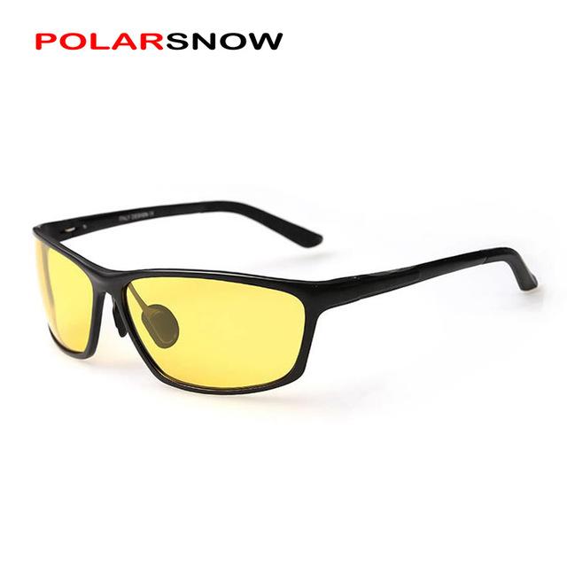 POLARSNOW Noite óculos de Condução Óculos Para Mulheres Dos Homens Polarizados Óculos de Visão Noturna Lente Seguro Motorista do Sexo Masculino Óculos Acessórios