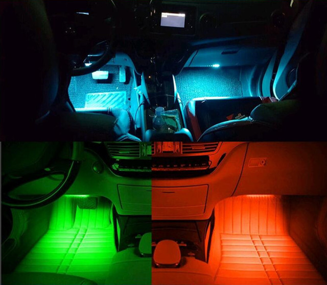 Car Styling Car Interior Led Decoration For Fiat Punto 500 Bravo