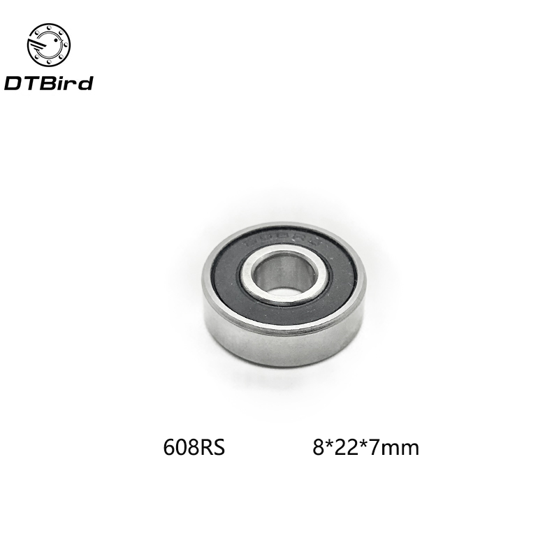 10pcs 608 RS 608-2RS 8*22*7mm Skateboard 608 2RS Ball Bearings Miniature 608-2RS Bearing 608RS 8X22X7mm