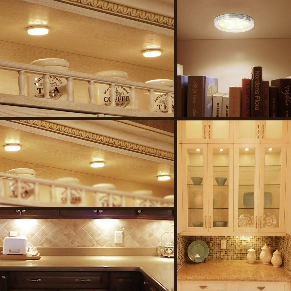Under cabinet counter led puck light for kitchen exhibition tv bar under cabinet counter led puck light for kitchen exhibition tv bar wine jewelry hand wave motion sensor with magnetic base 3pcs in led bulbs tubes from aloadofball Gallery