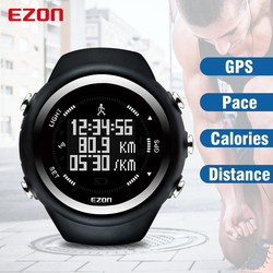 EZON GPS Distance Speed Pace Calories Monitor Men and Women Sports Watches Digital Watch Running Hiking Wristwatch Montre Homme