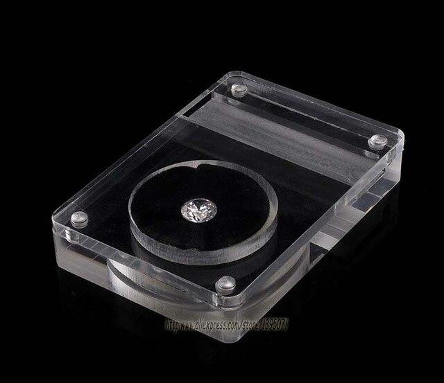 Whole 25pcs Acrylic Clear 8x5 5cm Gem Display Tray Diamond Storage Box Jewelry Holder Pendant