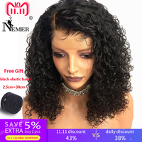 13*6 Glueless 8 16 Short Bob Lace Front Wigs Brazilian Pre Plucked Human Hair Wig with Baby Hair for Black Women Remy Nemer
