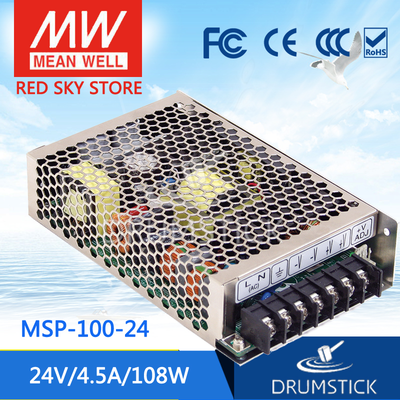 Genuine MEAN WELL MSP-100-24 24V 4.5A meanwell MSP-100 24V 108W Single Output Medical Type Power Supply original mean well msp 100 24 ac dc single output supply 24v 108w 4 5a switching power supply medical safety approved with pfc