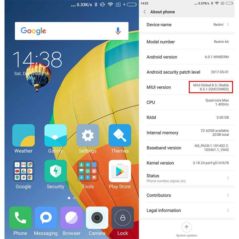 Xiaomi Redmi 4A 32GB Global Version Snapdragon 425 Quad Core