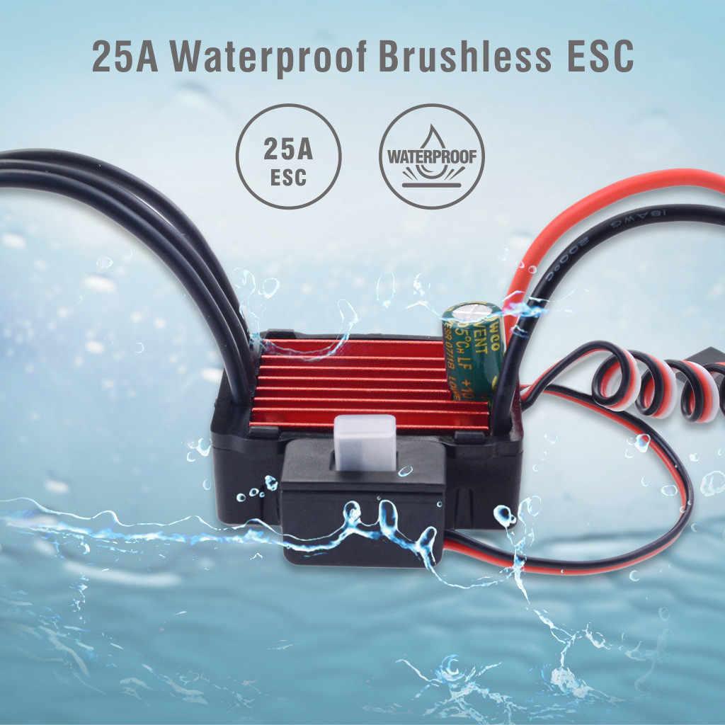 OVERTREFFEN HOBBY Waterdicht 2030 4500KV Borstelloze Motor + 25A ESC 2 S Set voor 1/18 RC Auto Vrachtwagen C614