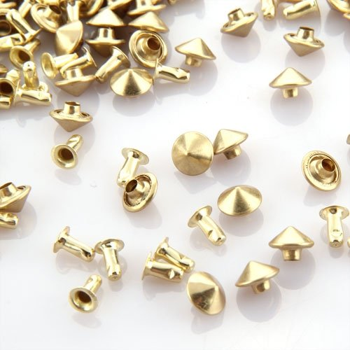 100X Wall Rivets Metal tacks Bag / Shoes / Gloves shoes accessories Gold