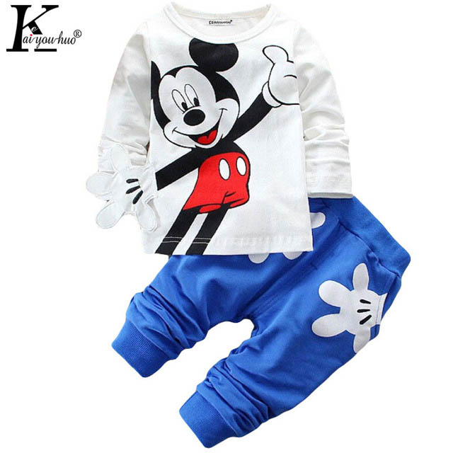 2016 Boys&Girls Cotton Spring sport suit Kids Clothing set Kids fashion clothes baby boys&Girls cartoon set