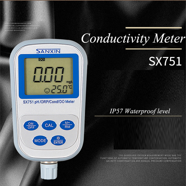 PH Meter ORP Meter Portable Measuring Instrument Conductivity Meter Dissolved Oxygen Analyzer SX751