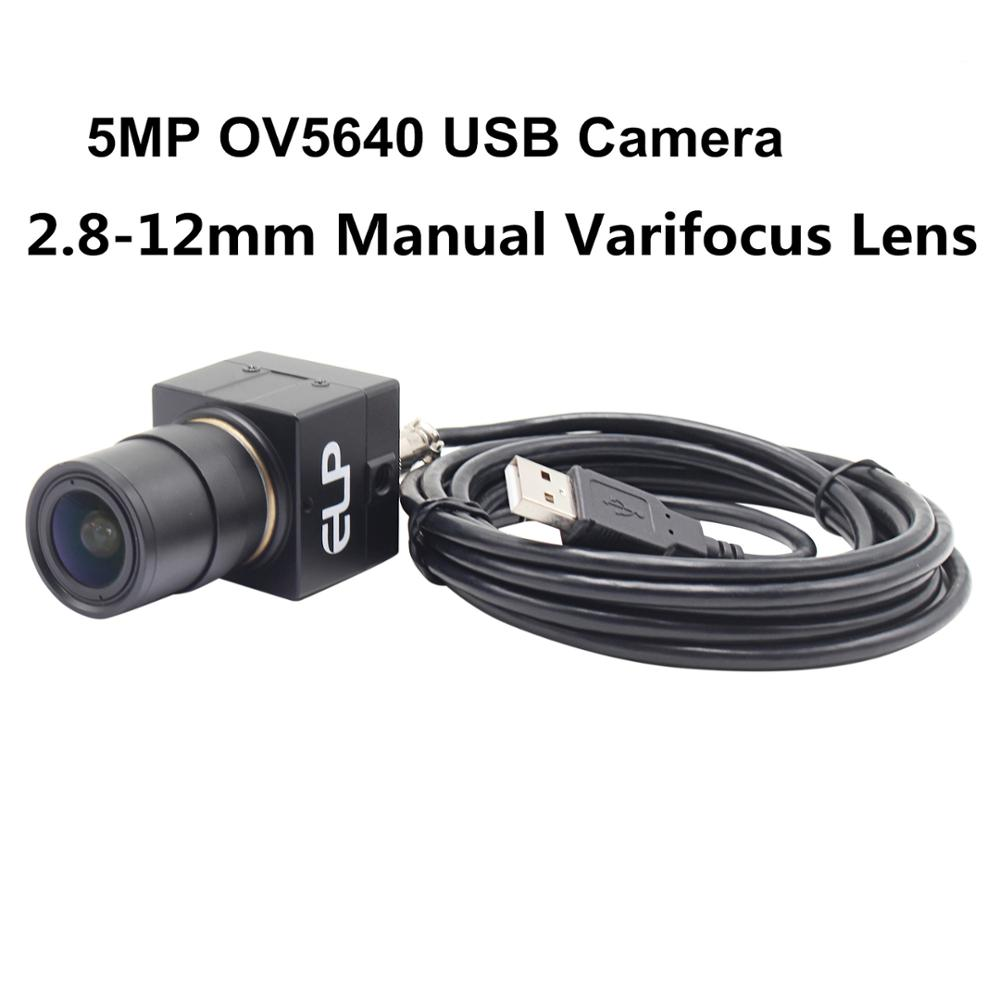 5Megapixel 2592X1944 usb Security Protection camera 2.8-12mm manual iris Varifocus CS mount lens OV5640 CCTV cmos camera