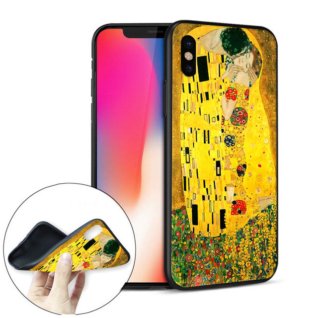 iPhone Kiss Art Soft Silicone Phone Case cover for iPhone 5, SE, 5s, 6 Plus, 6 , 6s, 6s plus, 7, 7 Plus, 8, 8 Plus, X, XR , XS, XS MAX
