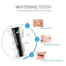 120G Natural Black Toothpaste Tooth Care Whitening Oral Hygiene Mint Bamboo Charcoal Teeth Remove Stains