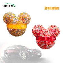 Car perfume Diamond Air conditioner Outlet clip Interior decoration Freshener Styling Perfumes Gift