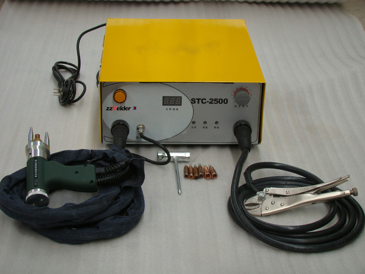 220V STC-2500 Capacitor Discharge CD Stud Welder Spot Welding Machine M3-M10 320pc capacitor discharge welding studs ws 320