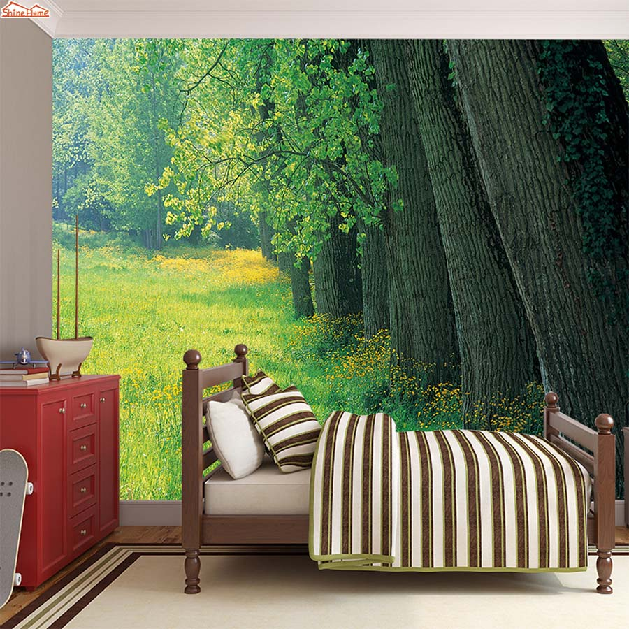 ShineHome-Country Road Trees in Forest Modern Wallpaper 3d Wall Paper Mural Rolls Papel De Parede Para Quarto Papier Peint 3d accelerating road infrastructural delivery in ghana