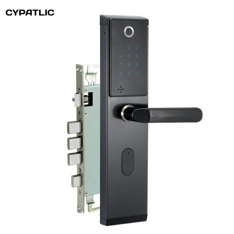 New Arrival Biometric Fingerprint Door Lock Intelligent Electronic Verification With Password & RFID Unlock