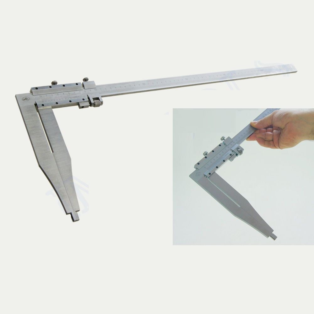 600MM Metal Vernier Caliper Metric Guage W/ 200MM Long Jaw Measuring Tool