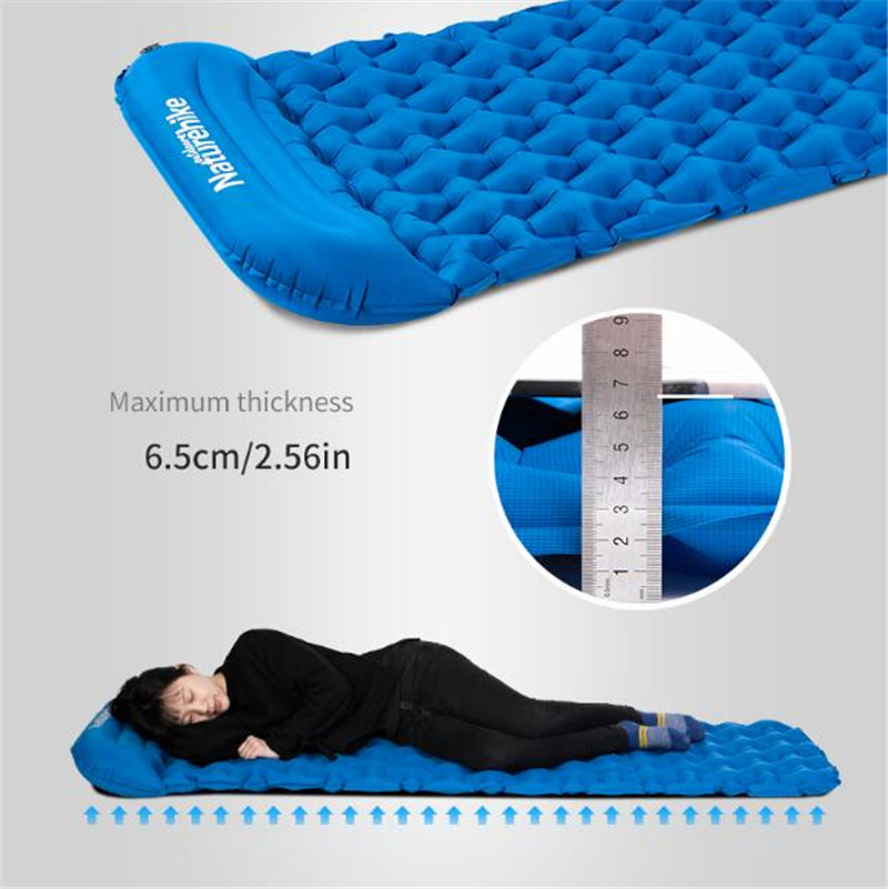 Naturehike Ultralight Outdoor Sleeping Pad Air Bag New Hand Press Inflating Camping Mattress Hiking Tent Mats With Pillow in Camping Mat from Sports Entertainment