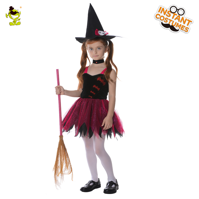 Bat Witch Girl Costumes with Choker Decoration Elegant Fairy Dress ...