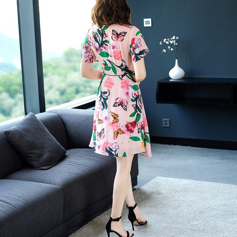 Femmes Floral My2342 Boho Femme Robe Rose Élégante Soie Vêtements 2019 En Robes Mini Mixed D'été Pour cTJ3F1lK