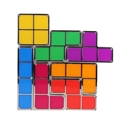 DIY Tetris Puzzle LED Night Light Retro Style Game Stackable LED Puzzle Light Wall Lamp Romantic Light Colorful