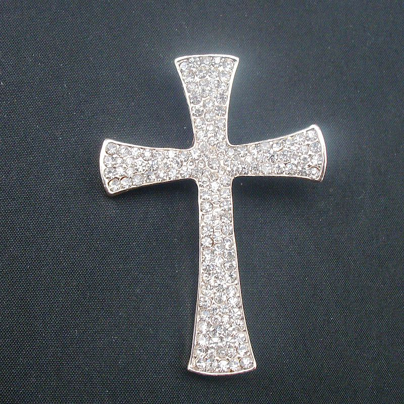 Fashion Brooches Clear Marquise Crystal Rhinestone Cross Costume Brooch Pin Pendant Exquisite Jewelry, Item NO.: BH7665