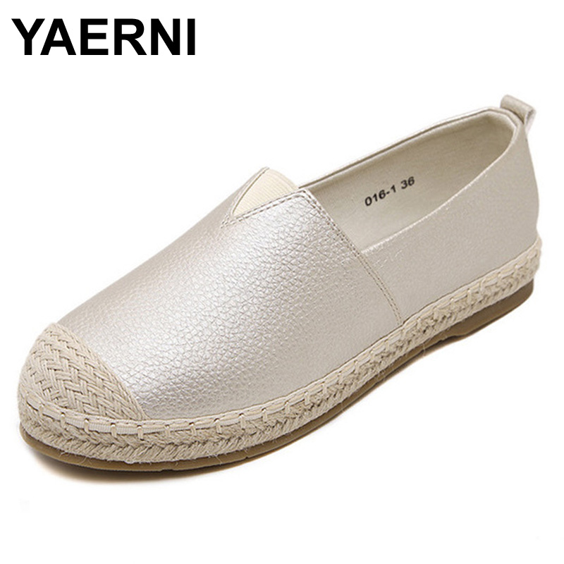 YAERNI Flats Women Shoes 2017 New Spring Summer Women Casual Shoes Breathable Slip-On Loafers big size 34-43YAERNI Flats Women Shoes 2017 New Spring Summer Women Casual Shoes Breathable Slip-On Loafers big size 34-43