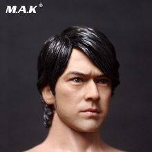 1/6 Male Head Sculpt1:6 Scale Takeshi Kaneshiro Long Hair version Carved Model Toys Fit 12 Action Figure Body