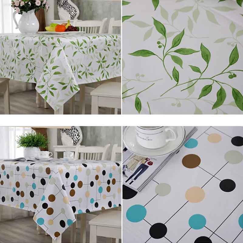 Pvc Waterproof Plastic Picnic Table Cover Cloth Home Textile F01