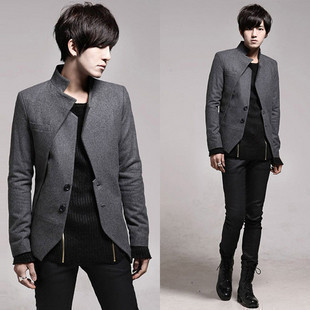 2016 nuevo hombre inclinado túnica china traje chaquetas ocio de manga larga traje