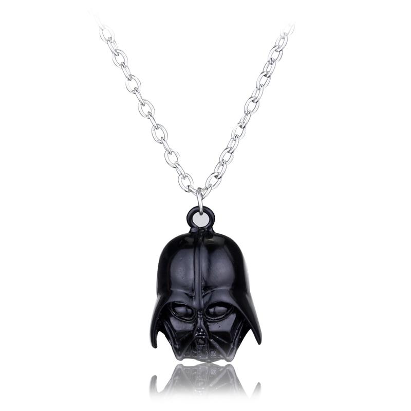 2017 Punk Star Wars Darth Vader Helmet Pendants Necklaces Fashion Movie Jewelry Solr Warrior Necklace 10pcs Lot