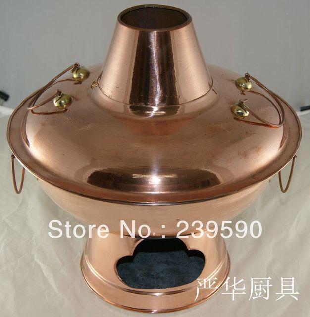 DHL/UPS 34cm Copper Hot Pot*Mongolian Hot Pot*China Hot Pots Antique